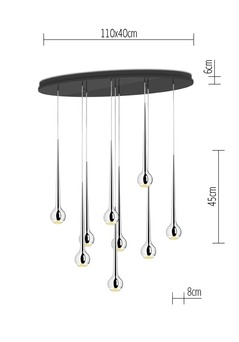 tobias grau hanglamp falling water 9 versteeg lichtstudio. Black Bedroom Furniture Sets. Home Design Ideas